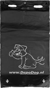 Zwarte hondenpoepzakjes recht model blok