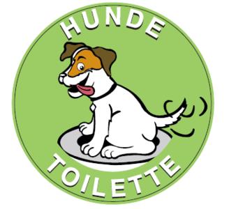 Hinweisschilder Hunde Toilette